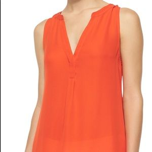 Joie Sleeveless Aruna Sink Blouse Orange